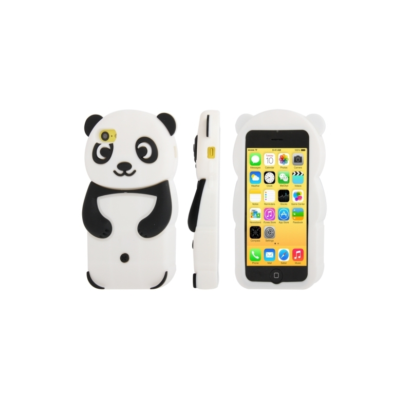 coque iphone 5c silicone panda mobile store. Black Bedroom Furniture Sets. Home Design Ideas