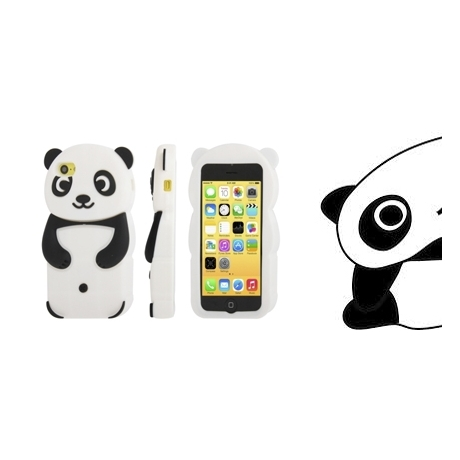 coque iphone 5 panda silicone