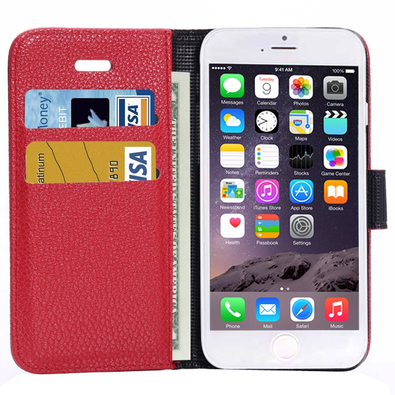 Housse porte cartes en cuir iphone 6 6s iphony for Housse cuir iphone 6
