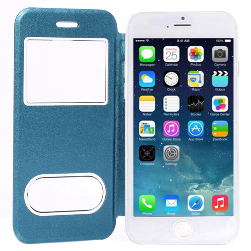 etui cuir double view iphone 6 6s mobile store. Black Bedroom Furniture Sets. Home Design Ideas
