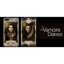 Coque iPhone 4 et 4s The Vampire Diaries - Elena & Jeremy