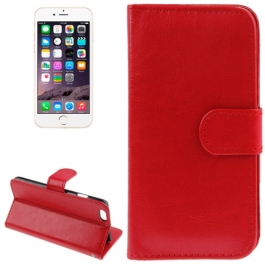 Housse Porte-Cartes en cuir iPhone 6 et 6S - Rouge