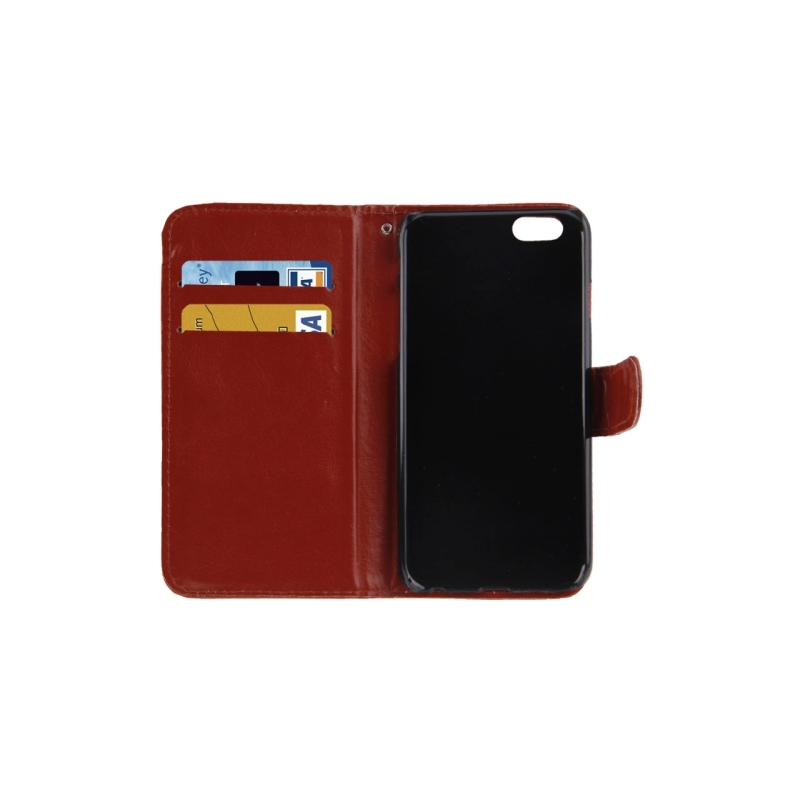 Housse porte cartes en cuir iphone 6 et 6s marron for Housse cuir iphone 6