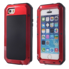 Coque iPhone waterproof anti-choc 5 / 5S / SE - Rouge