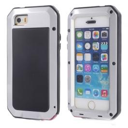 Coque iPhone waterproof anti-choc 5 / 5S / SE - Argent