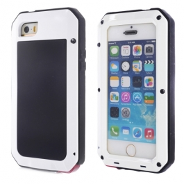Coque iPhone waterproof anti-choc 5 / 5S / SE - Blanc