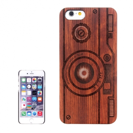 coque iphone 6 6s en bois motif appareil photo mobile store. Black Bedroom Furniture Sets. Home Design Ideas