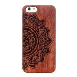 coque Iphone 6 / 6S en bois motif mandala