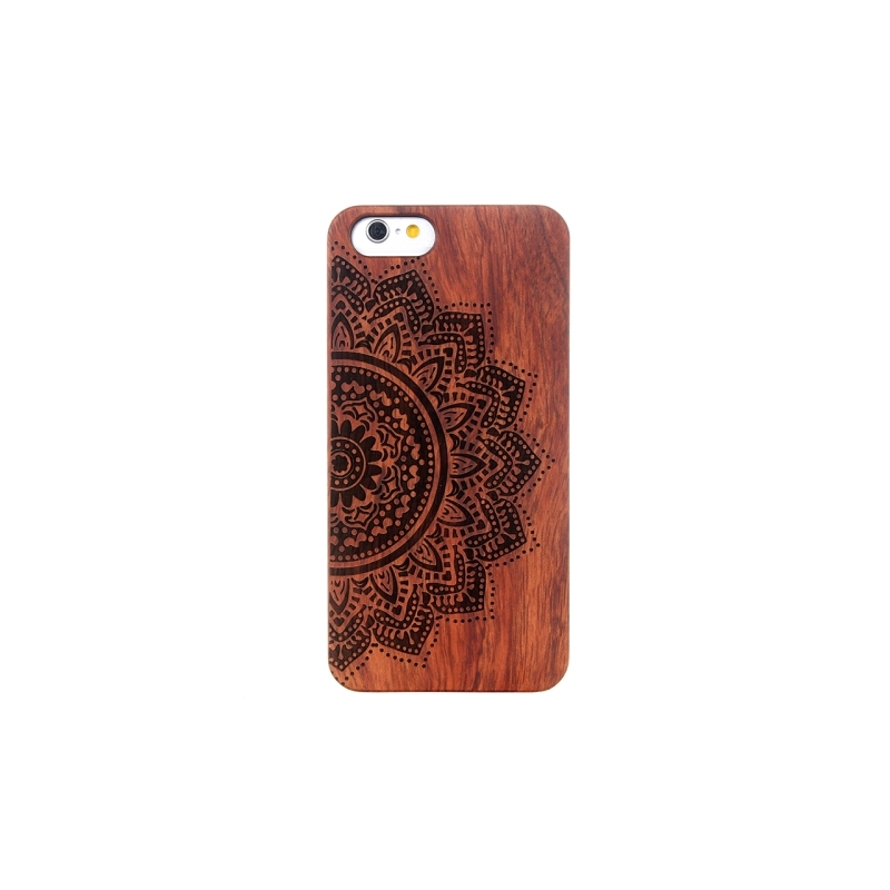 coque iphone 6 6s en bois motif mandala mobile store. Black Bedroom Furniture Sets. Home Design Ideas