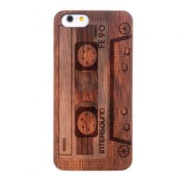 coque Iphone 6 / 6S en bois motif Cassette