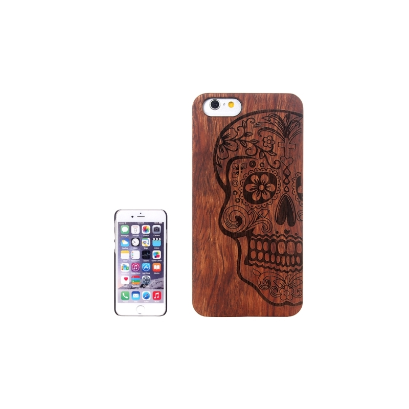 coque iphone 6 6s en bois motif cr ne mobile store. Black Bedroom Furniture Sets. Home Design Ideas