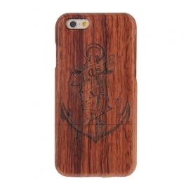 coque Iphone 6 / 6S uniquement bois motif Ancre Marine