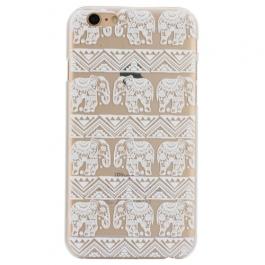 coque iphone 6 / 6S plastique transparente et blanche motif éléphant