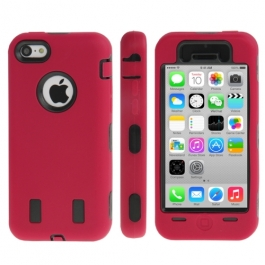 coque iPhone 5C anti dérapante- rouge