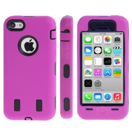 coque iPhone 5C anti dérapante - rose