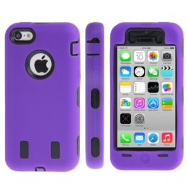 coque iPhone 5C anti dérapante - violet