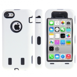 coque iPhone 5C anti dérapante - blanc