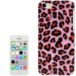 coque iPhone 5C Léopard - Rose