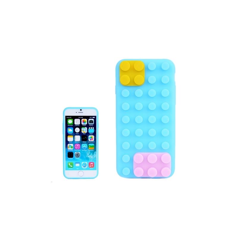 Coque Iphone S Silicone Bleu