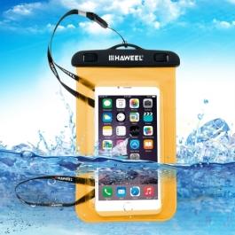 housse waterproof iPhone 5C HAWEEL transparente - orange