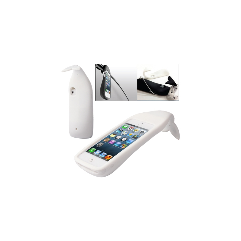 coque iphone 5 5s se silicone 3d baleine blanc iphony. Black Bedroom Furniture Sets. Home Design Ideas