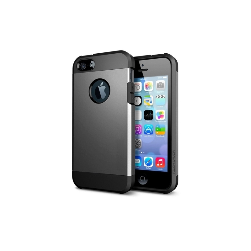 coque iphone 5 5s se tpu logo apple gris mobile store. Black Bedroom Furniture Sets. Home Design Ideas
