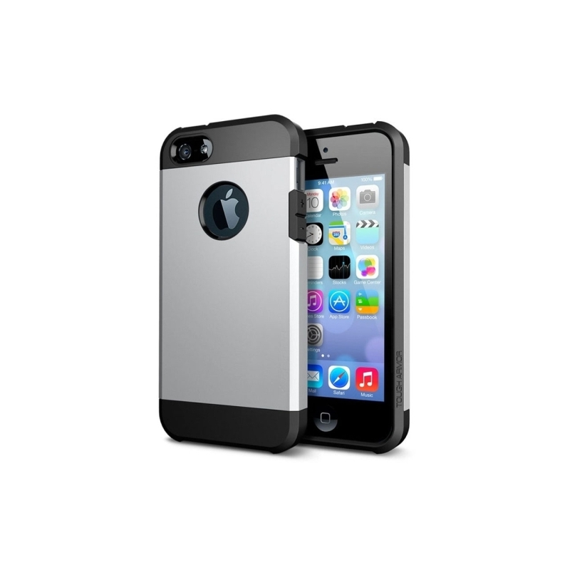 coque iphone 5 5s se tpu logo apple argent mobile store. Black Bedroom Furniture Sets. Home Design Ideas