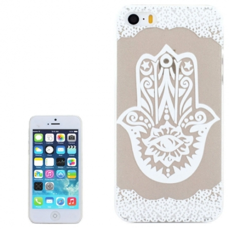coque iphone 5 5s se transparente blanche motif floral main de fatma mobile store. Black Bedroom Furniture Sets. Home Design Ideas