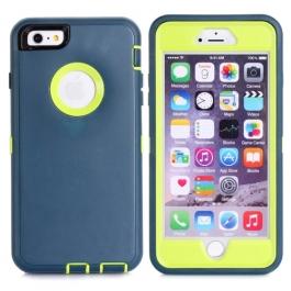 coque iPhone 6 plus / 6S plus bicolore anti-choc - bleu / vert