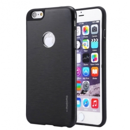 Coque iPhone 6 / 6S MOTOMO logo Apple - Noir