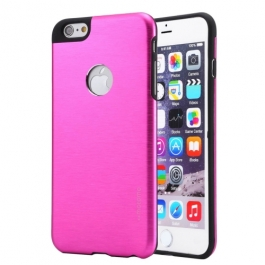 Coque iPhone 6 / 6S MOTOMO logo Apple - Magenta