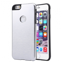 Coque iPhone 6 / 6S MOTOMO logo Apple - Argent