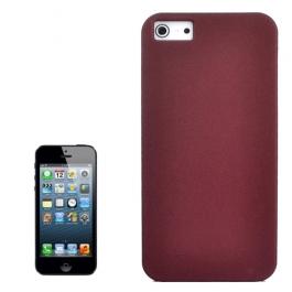 Coque iPhone 5 / 5S / SE sable mouvant givré - rouge