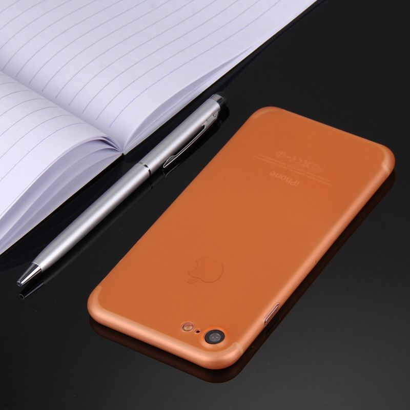 coque iphone 7 silicone orange