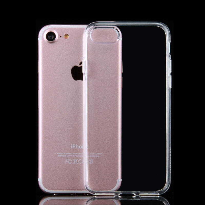 coque de protection silicone transparente pour iphone 7 mobile store. Black Bedroom Furniture Sets. Home Design Ideas