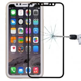 Verre trempé 4D iPhone X (Noir)