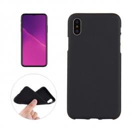 Coque iPhone X en silicone souple (Noir)