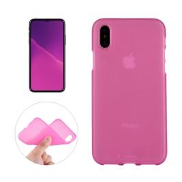Coque iPhone X en silicone souple (Rose)