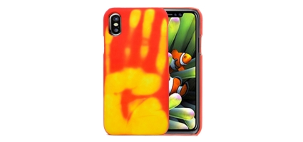 Coque Thermo-Sensible (Couleur / Chaleur) iPhone X - Jaune / Orange