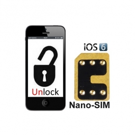 Carte de desimlockage Nano-Sim pour iPhone 5 iOS6