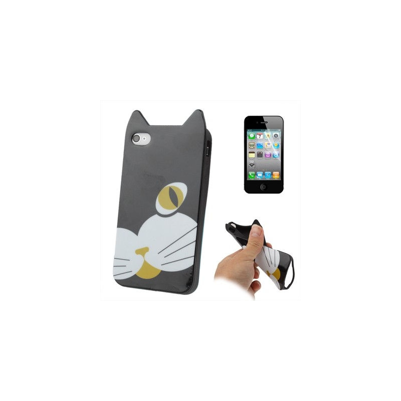 coque oreilles chat iphone 4 et 4s mobile store. Black Bedroom Furniture Sets. Home Design Ideas