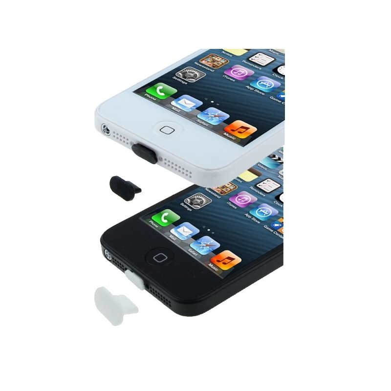 bouchon anti poussiere iphone 5 port lightning seul mobile store. Black Bedroom Furniture Sets. Home Design Ideas