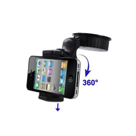 support voiture 360 ventouse et autocollant pour iphone 5 4 s 3g s iphony. Black Bedroom Furniture Sets. Home Design Ideas