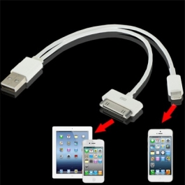 Câble 2 en 1 : Recharge + synchronisation iPhone 5 & iPhone 4S / 4