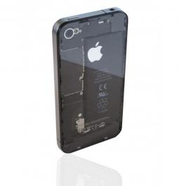 Façade arrière transparente pour iPhone 4 / 4S Noir