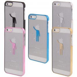 Coque transparente Boy tête logo apple iPhone 5