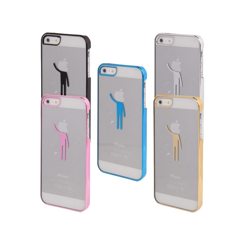 coque transparente bonhomme logo apple iphone 5 iphony. Black Bedroom Furniture Sets. Home Design Ideas