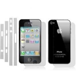 Trio protection écran + façade arrière + tranches pour iPhone 4 et 4S
