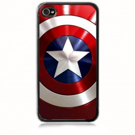Coque iPhone 4 et 4S Bouclier Captain America
