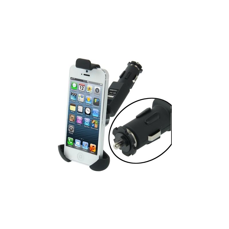 chargeur voiture avec support int gr pour iphone mobile store. Black Bedroom Furniture Sets. Home Design Ideas
